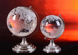China Crystal Home Decorations Crafts K9 Globe Ball With Sand Blasting World Map on sale