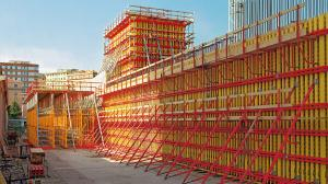 China High rigidity Concrete Wall Formwork , scaffolding shearing wall for time saving on sale