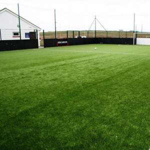China Outdoor Artificial Grass Soccer Field 35mm Non Filling Natural Looking on sale
