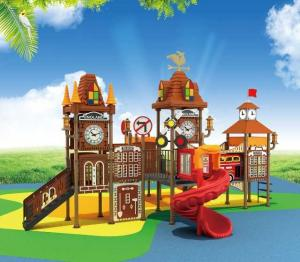 China Large Unique Design Kids Outdoor Playground Equipment Multi Slides Commercial Playground London Bridge Tower for Sale on sale