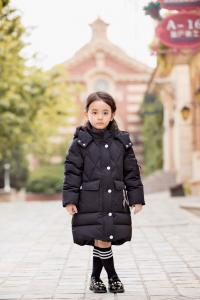 China Bilemi Detachable Cap Black Red Gray Down Jacket Baby Girl Parka Kids Winter Down Coat on sale