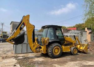 China Yellow Used Cat 420f Backhoe Loader / Skid Steer Loader In Cheap Price For Sale on sale