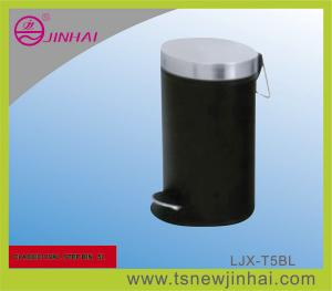 China S/S Oval Power Spraying Pedal Office Rubbish Bin on sale