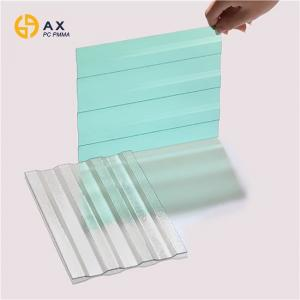 China 1820mm Length Anti UV Clear Corrugated Polycarbonate Sheets on sale