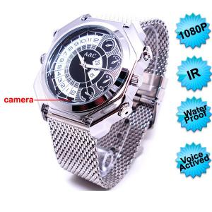 China FS-WC007-AC HD1080P Nightvision Watch Camera with Voice Activated Recording on sale