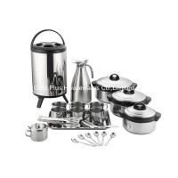 China 21pcs Kitchen cookware sets double wall vacuum thermos stainless steel soup pot heat insulation barrel mug and spoon set on sale