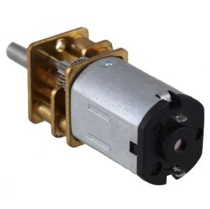 China DC 12V Gear Motor Electric Speed Reduction Shaft Diameter Reduction Gear Motor Full Metal Gearbox for RC Robot Motor on sale