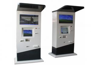 China Free Standing Foreign Currency Exchange, Card Payment Outdoor Touch Screen Kiosk on sale
