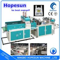 China LLDPE Plastic Bag Making Machine / T Shirt Shopping Bag Manufacturing Machine on sale
