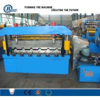 China No Shake No Noise Metal Roofing Roll Forming Machine By PLC Control on sale