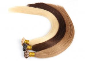 China Strong Glue Pre Bonded Hair Extensions , Pre Bonded Stick Tip Hair Extensions on sale