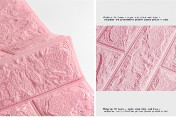 3d pe foam wall panels wallpaper decor wall stickers pink colour