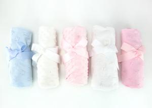 China Custom Made 100 Polyester Baby Blanket , Knitted Flannel Baby Girl Pram Blanket on sale