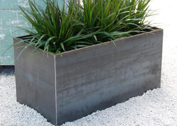 Stainless Steel Rectangular Planter