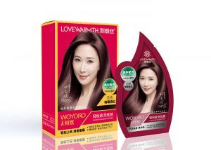 China 2 In 1 Non Allergic And Ammonia Hair Dye Shampoo 10ml*2 15ml*2 on sale