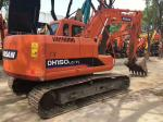 0.58m³ Bucket 15 Ton Used Doosan Excavator DH150LC-7 5.883L Displacement