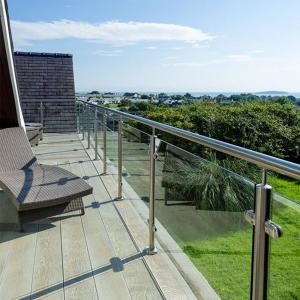 2 Pipe Handrail Balcony Terrace Stainless Steel Glass Railing Designs For Sale Glass Railing Balustrade Manufacturer From China 107886434