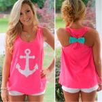 Summer Style Women's Anchor Tanks Top Fitness Debardeur Female Vest Tops