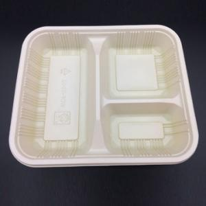 China 3 Compartment Plastic Packaging Box Food Tray Take Away Salad Food Container Tray Plastic Disposable Food Container on sale