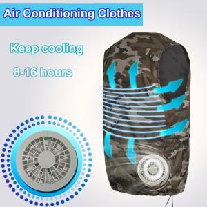 China Factory Fan Cooling Suit Vest High Temperature Protective Clothing Heatstroke Cooling Vest Air Conditioning Short-sleeve on sale