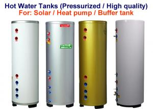 China Stainless Steel Material Pressurised Hot Water Tank 100 - 500 L Capacity on sale