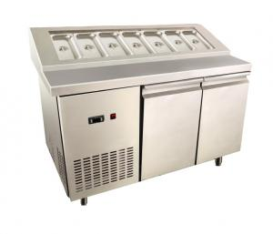 Energy Saving Stainless Steel Freezer With Gn Pan 2 Door Under Counter Fridge
