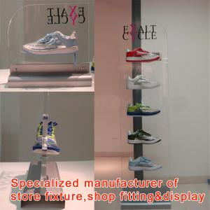 China high quality small MOQ cheap price custom made shoe display storage on sale