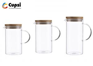 Water Pitcher With Bamboo Lid Non Toxic