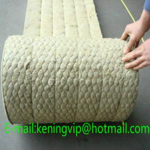 China Rock wool blanket with wire mesh for building and oven insulation/Mineral wool on sale