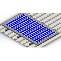 China Anodized Aluminum Roof Structure PV Mounting Brackets  Metal Roof Solar Mounting Systems panel  brackets on sale