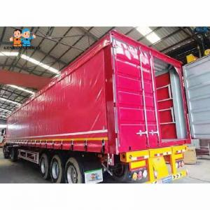 China Mechanical Suspension Enclosed 60T Cargo Curtainsider Semi Trailer on sale