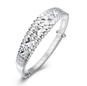 China snowflake design bracelets bangles fashion 925 sterling silver bangle nice women bangle on sale
