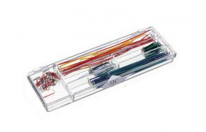 China Solderless Breadboard Jumper Wires Cable Kits , Bread Board Line Red / Orange 140 Pcs/Box on sale