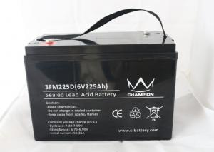 China Off Grid Solar Lead Acid Battery 6v 225ah Inverter SMF Batteries on sale
