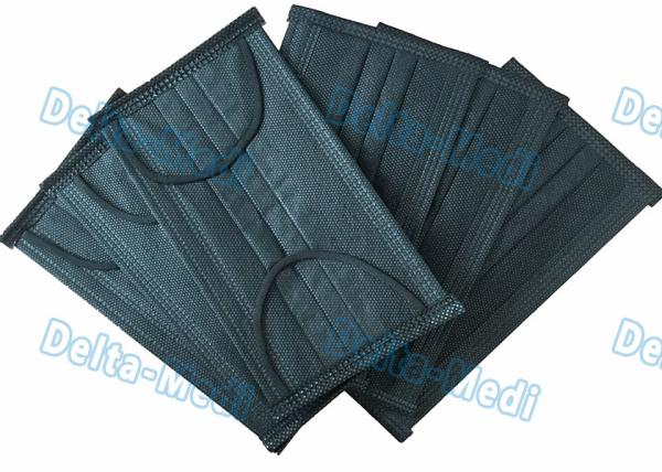 black non woven disposable face mask
