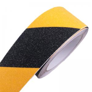 Safety Tape Yellow Black Anti-Slip Safety Tapes Adhesive for Outdoor Steps Stairs Floors Walls Or Indoor High Traction Warning Tape 5cm x 5m