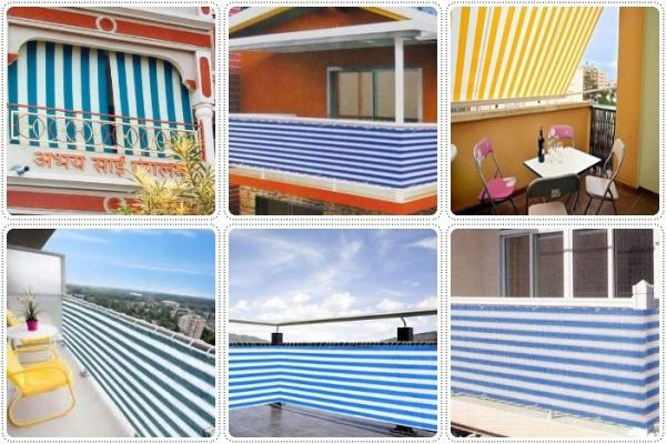 Balcony Privacy Cover Fence Screen Protection Sun Shade Net Images