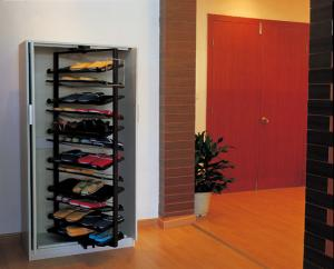 Quality 360 Degree Abs Rotating Shoe Rack Storage Modern Closet Revolving Stackable For