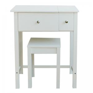 Quality S Wooden Makeup Dressing Table With Mirror Wood Vanity Stool For