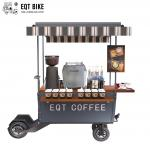 EQT Load 400KG Steel Frame Cargo Scooter Coffee Cart 3CBM Electric With Water System