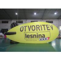 China Advertising Inflatable Lighting Blimps Airship , Inflatable LED Flying  Zeppelin on sale