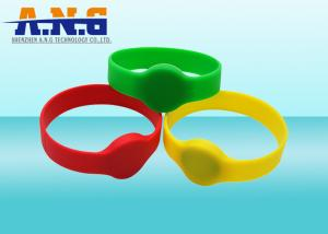 China ISO11784 / 5 LF 125Khz rfid wristbands for events , TK4100 chip on sale