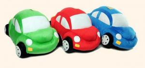 China Stuffed toys Clourful Car 10'' length, Red, green, blue, Plush toys,Toy Cars,Toy car, Gift on sale