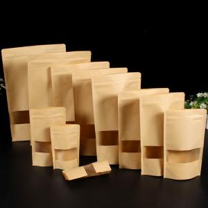 China brown paper kraft bags with window kraft food paper bag kraft k bags on sale
