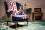 antique British flag chair furniture,#727M