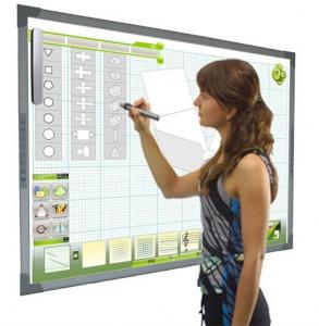 China wireless Interactive Electronic Whiteboard Price With 2*ir Pen For Business And Education on sale