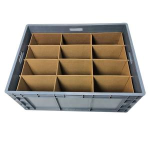 China Light Weight Plastic Folding Storage Boxes , Collapsible Plastic Storage Crates on sale