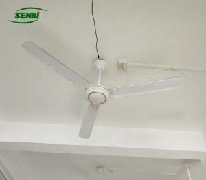 China Remote Control Solar DC Ceiling Fan , 3 Blade Ceiling Fan Low Consumption on sale