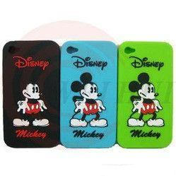 China Child washable cute mikey mouse Eco - friendly  iphone 4 / cell phone silicone cases for gift for girl on sale