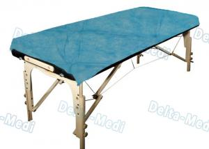 China Ultrasonic Seam Disposable Bed Sheets Blue Color With Good Skin Affinity,water proof,Examination usage on sale